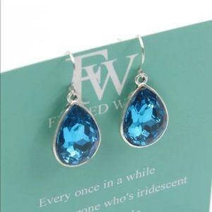 🌸 Blue Teardrop Earrings NEW